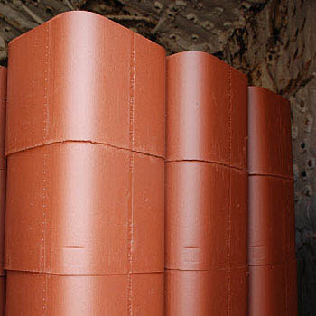"Mission Clay Flue Liner, 8""x8""x6"" Knock-out"