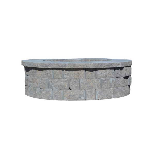 "Anchor® Highland Round Firepit Kit 66""x15"", Moonlight"