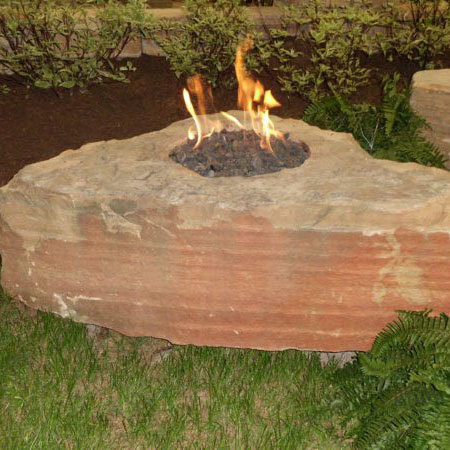 "Earthworks 18"" Fire Boulder Kit With Star Burner"