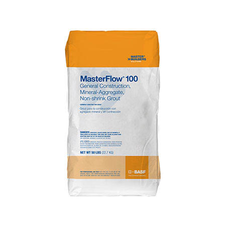 Masterflow® 100 General Construction, Mineral-Aggregate Non-shrink Grout, 50-lb.