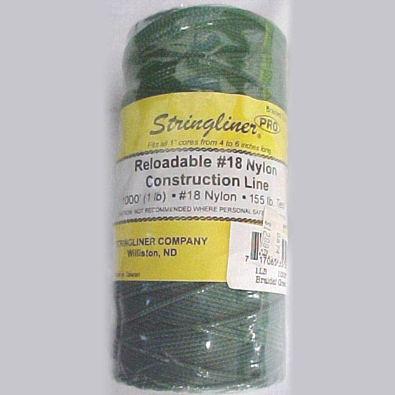 Stringliner Black/White 1000-ft. Braided Construction Line #18 Nylon