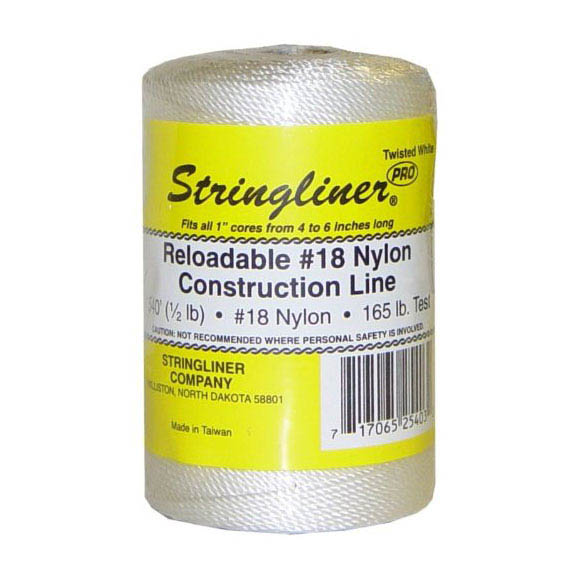 Stringliner White 1000-ft. Braided Construction Line #18 Nylon