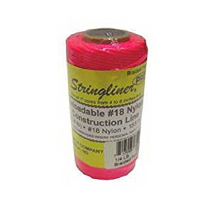 Stringliner Fluorescent Pink 1000-ft. Braided Construction Line #18 Nylon