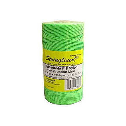 Stringliner Fluorescent Green 1000-ft. Braided Construction Line #18 Nylon