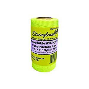 Stringliner Fluorescent Yellow 1000-ft. Braided Construction Line #18 Nylon