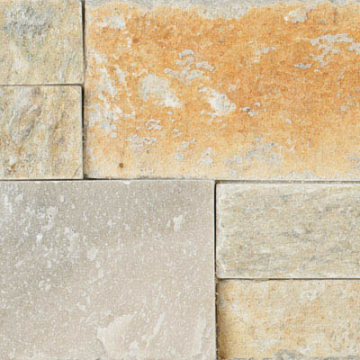 Align Stone Accent Ledge Sunset Gold Corner Panel