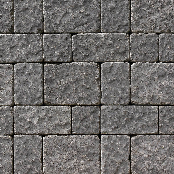 Anchor® Charleston™ Tumbled Large Rectangle Paver, Charcoal