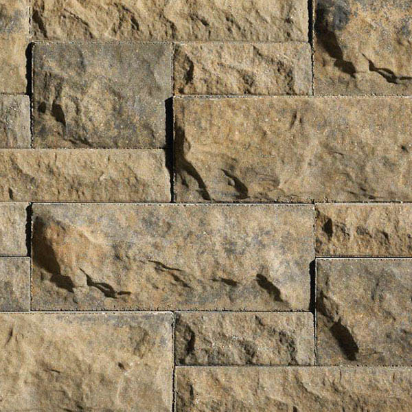 "Anchor® Belair Wall® 2.0™ 3"" Retaining Wall System, Gold Creek"