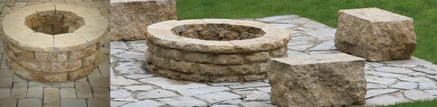 Product Spotlight Natural Stone Fire Pit Kit Watkins Concrete Block Watkins Concrete Block