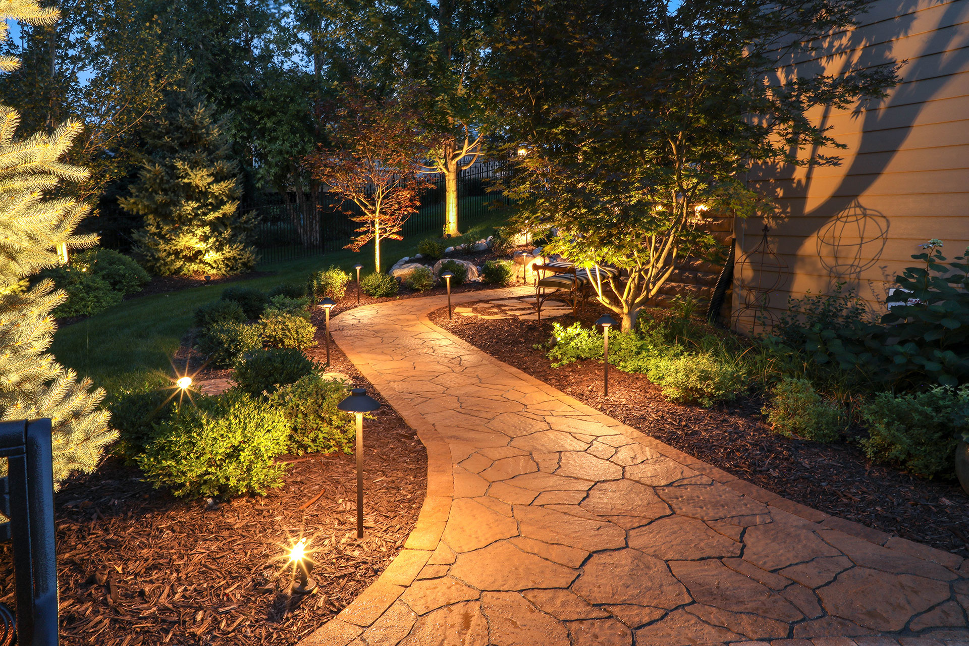 Landscape Lighting Perfection Of Yards Watkins Concrete Block